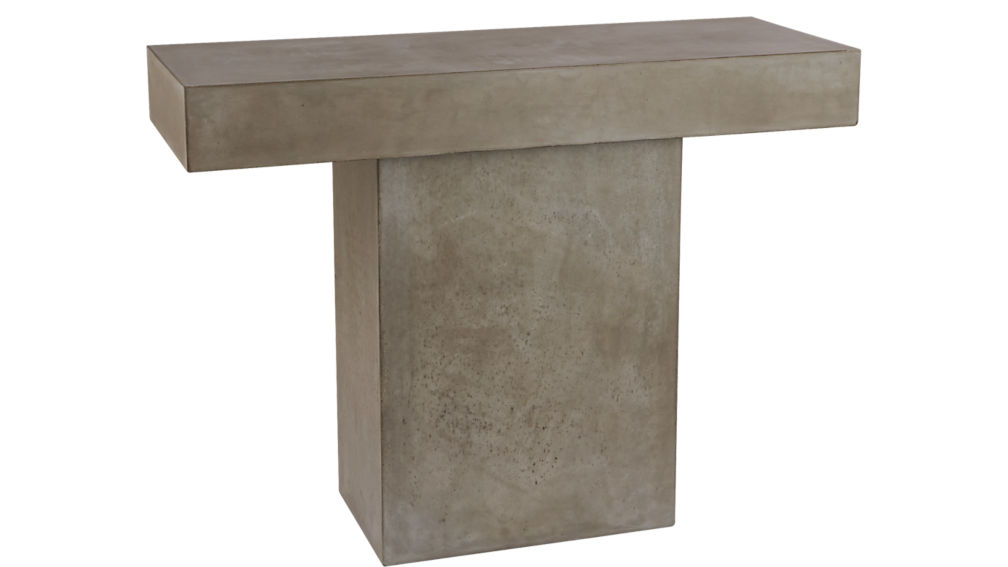 Fuze grey console table cb2 - Menzzo table console ...