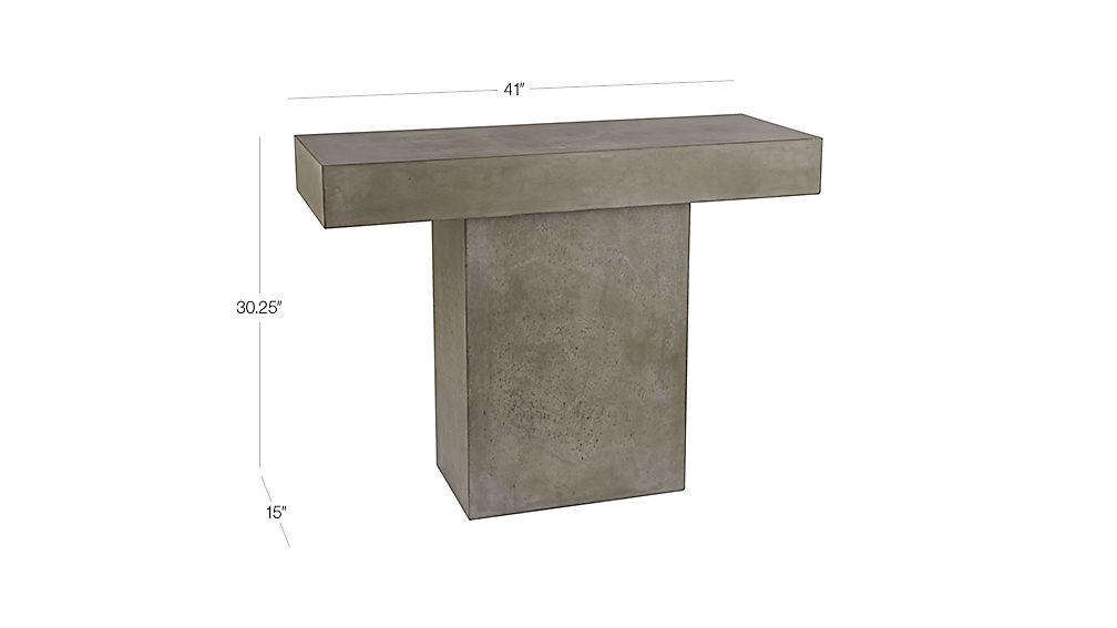 fuze grey dining table CB2 : FuzeConsoleTableGrey3QF14Dim from www.cb2.com size 1008 x 567 jpeg 25kB