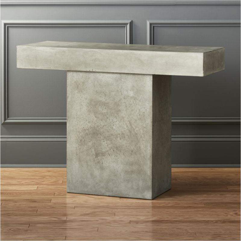 Fuze Grey Console Table | CB2