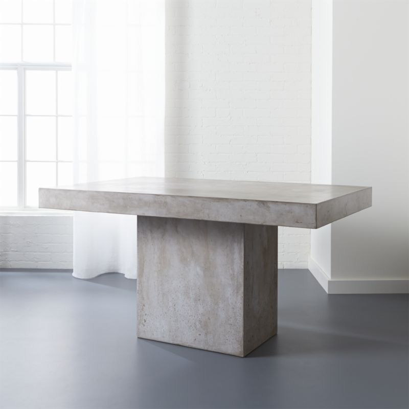 Perfect Fuze Grey Concrete Dining Table | CB2