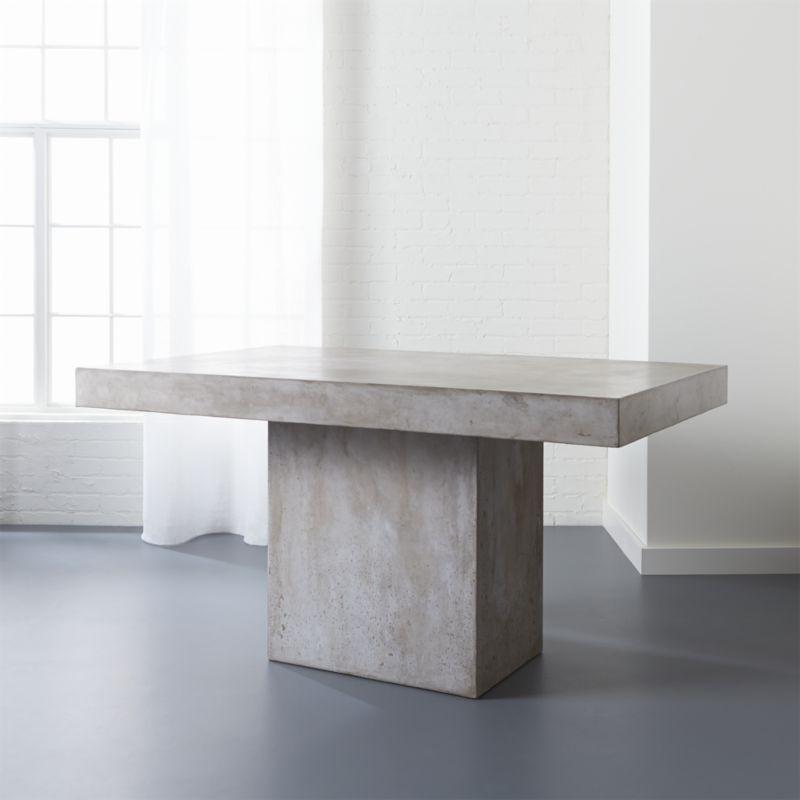 fuze grey concrete dining table CB2