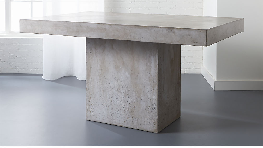 Fuze Grey Concrete Dining Table Reviews Cb2