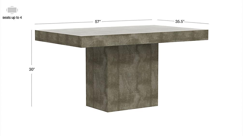 fuze stone bistro table CB2 : FuzeDiningTblF17Dim from www.cb2.com size 1008 x 567 jpeg 31kB
