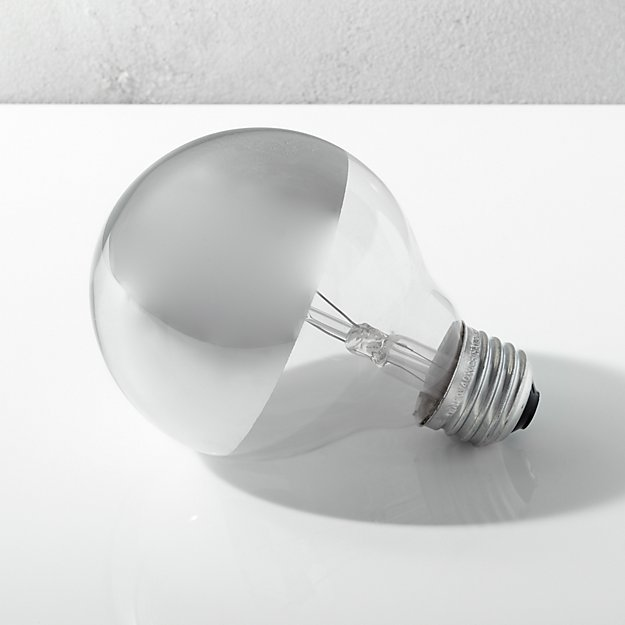 g25 silver tipped 40W light bulb