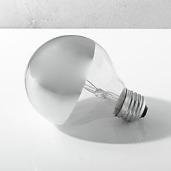 g25 silver tipped 40W light bulb