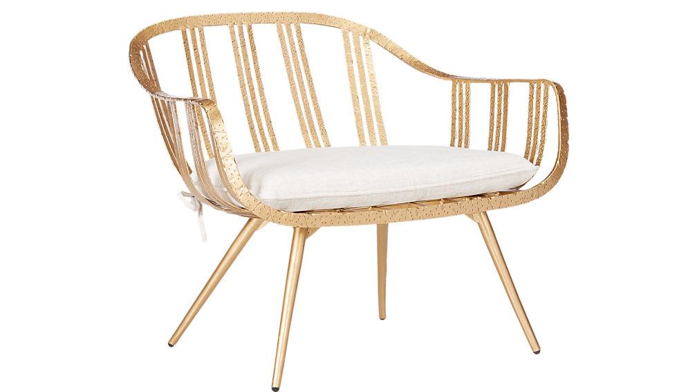 gala gold lounge chair