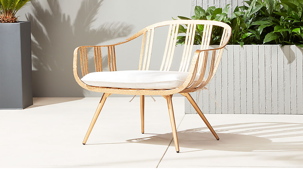 gala gold lounge chair ...