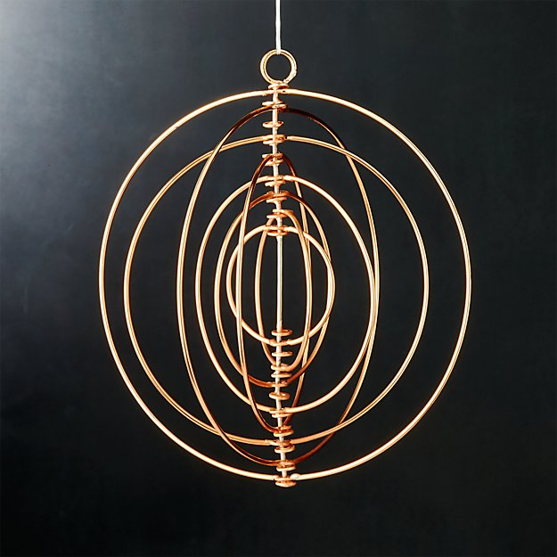 galactic copper ornament