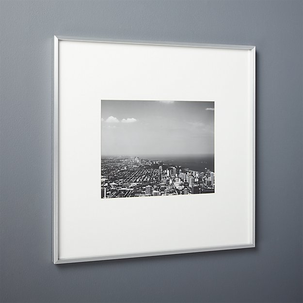 gallery brushed silver 11x14 picture frame
