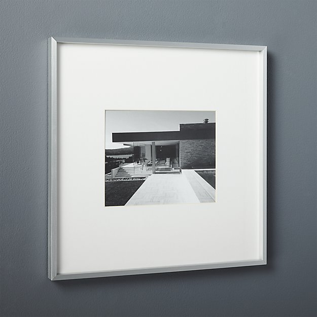 gallery brushed silver 8x10 picture frame