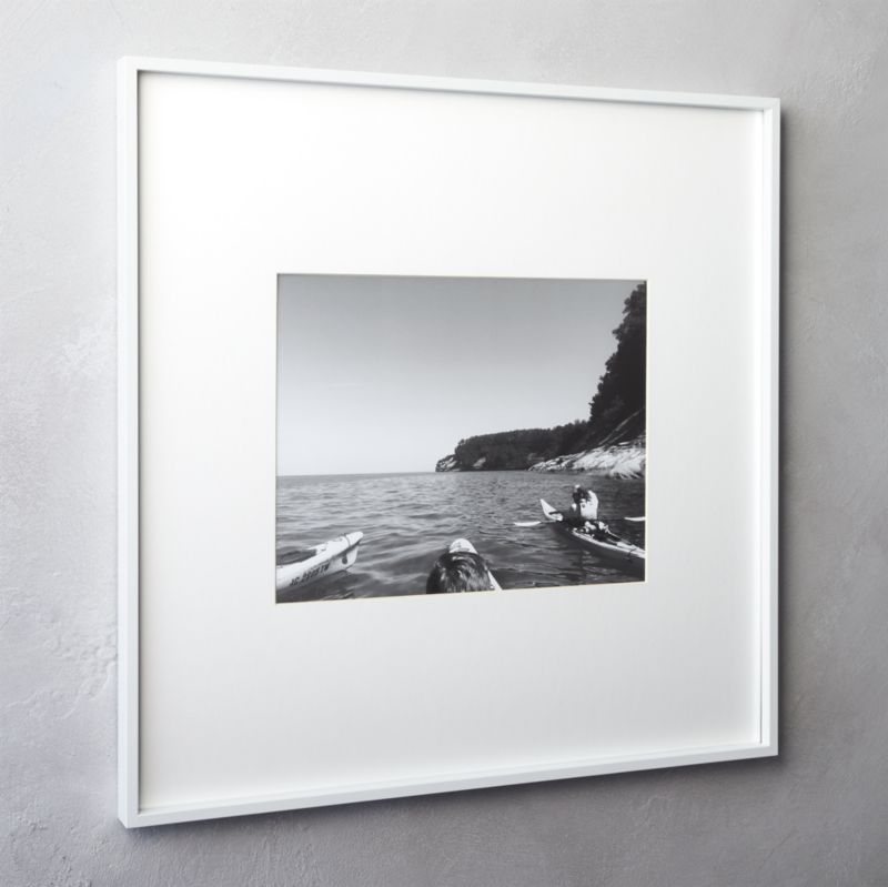 gallery white 4x6 picture frame cb2 - White Frame With Mat