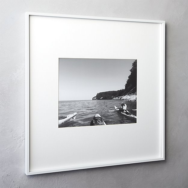 Gallery White 11x14 Picture Frame Cb2