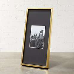 gallery brass 4x6 picture frame with black mat