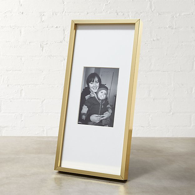 gallery brass 4x6 picture frame