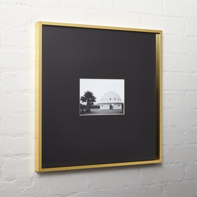 gallery brass 5x7 picture frame with black mat cb2 - White Frame With Mat