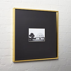 gallery brass 5x7 picture frame with black mat
