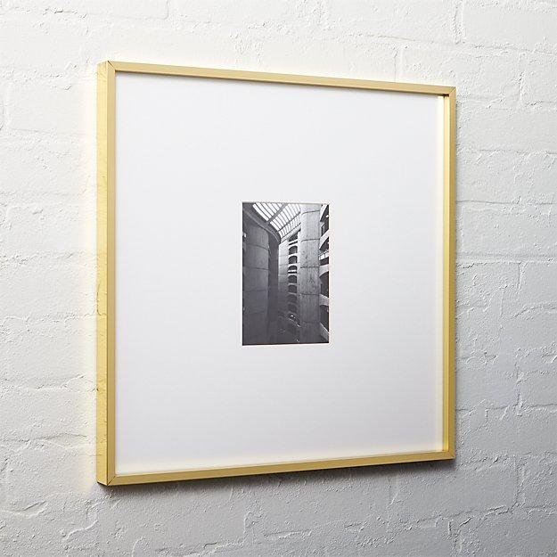 gallery brass 5x7 picture frame cb2. Black Bedroom Furniture Sets. Home Design Ideas