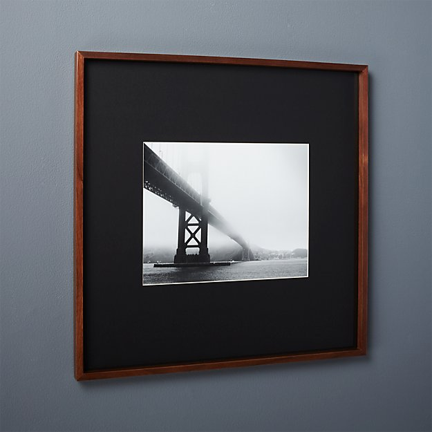 Gallery Walnut 11x14 Picture Frame With Black Mat Cb2