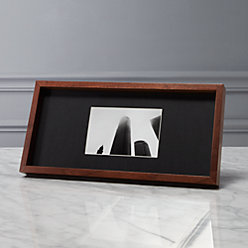 gallery walnut 4x6 picture frame with black mat