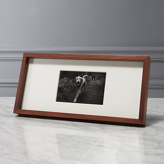 Gallery Walnut 4x6 Picture Frame Cb2