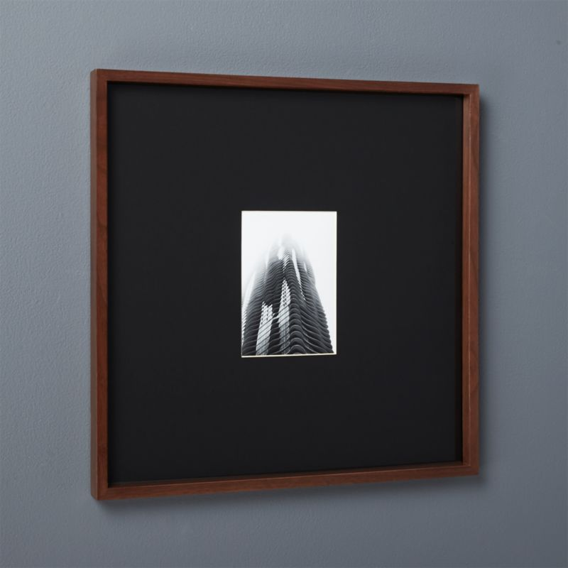 Gallery Walnut 5x7 Picture Frame With Black Mat Reviews