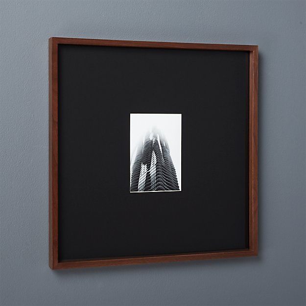 Gallery Walnut 5x7 Picture Frame With Black Mat Cb2