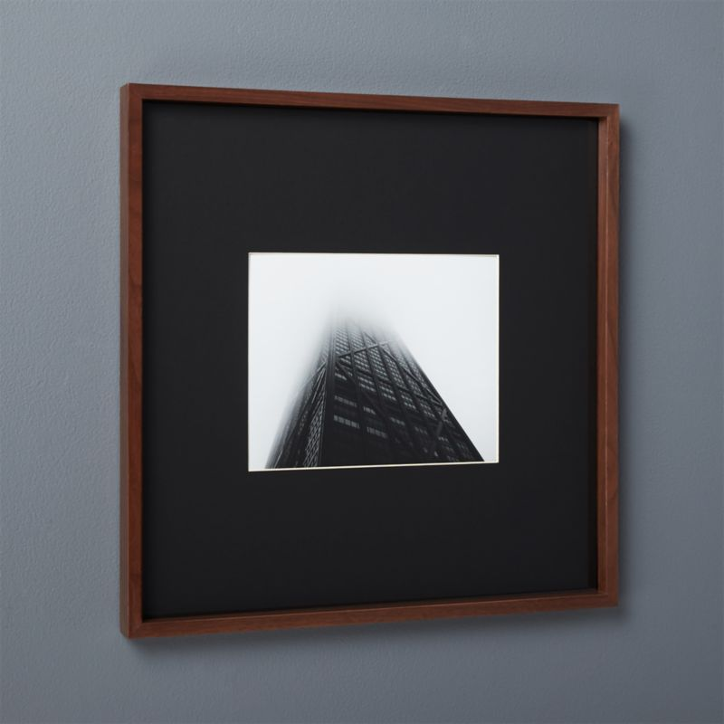 Gallery Walnut 8x10 Picture Frame With Black Mat In