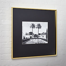 gallery brass 11x14 picture frame with black mat