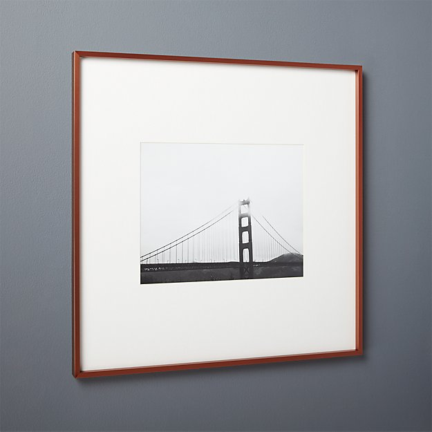 gallery copper 11x14 picture frame with white mat. gallery copper 11x14 picture frame with white mat   CB2