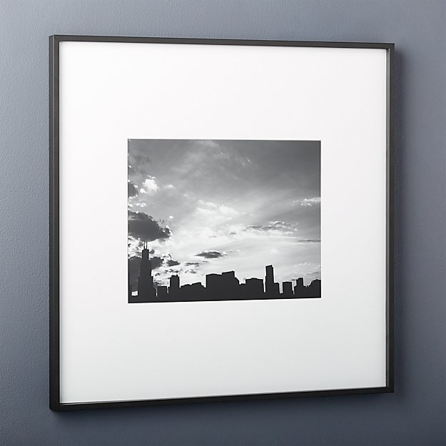 Gallery Black 11x14 Picture Frame Reviews Cb2