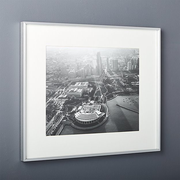 Gallery brushed silver 16x20 picture frame cb2 for 16x20 frame