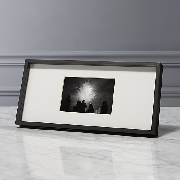 Gallery Black 4x6 Picture Frame Cb2
