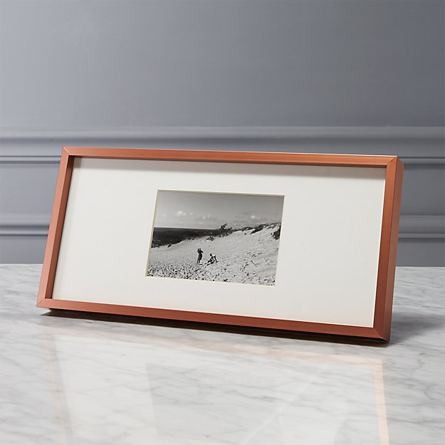 gallery copper 4x6 picture frame with white mat.
