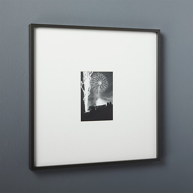 Gallery Black 5x7 Picture Frame Cb2
