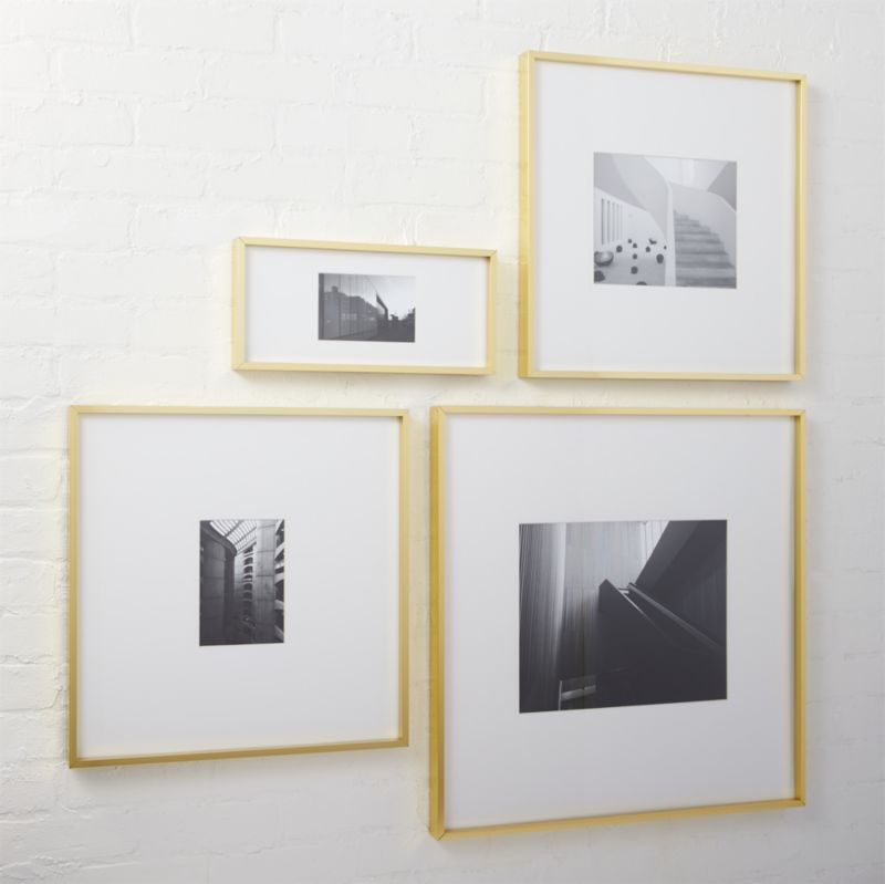gallery brass picture frames cb2 - White Square Frames