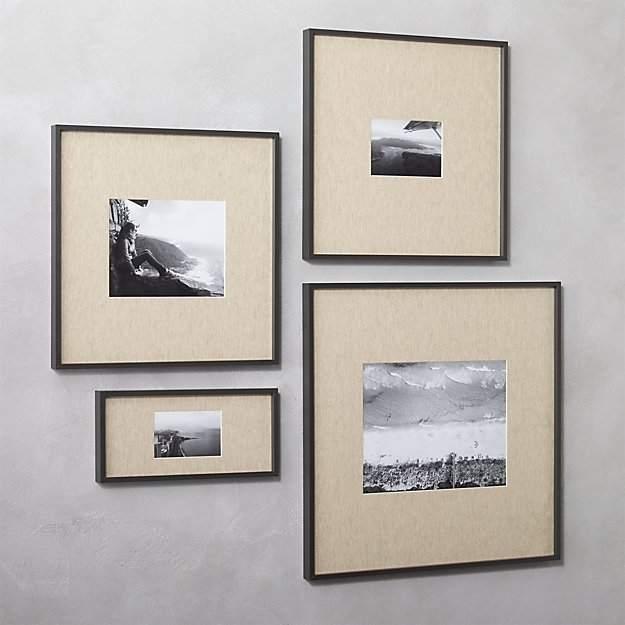 gallery black picture frames with linen mats