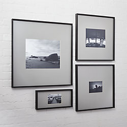 gallery carbon picture frames with grey mats
