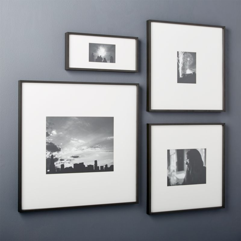 gallery black picture frames CB2