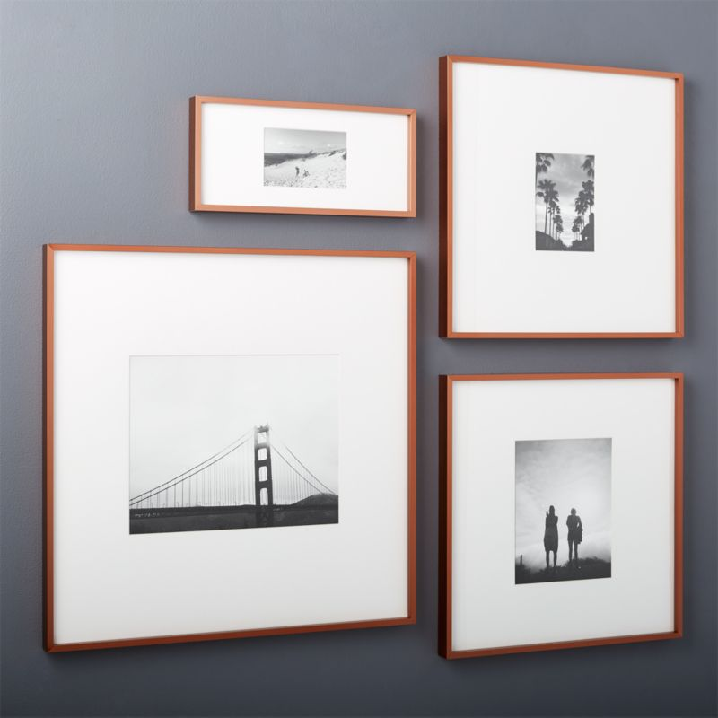 Gallery Copper Picture Frames With White Mats Cb2