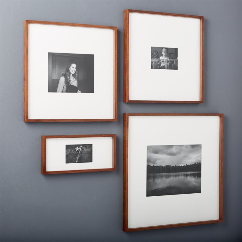 gallery walnut picture frames cb2