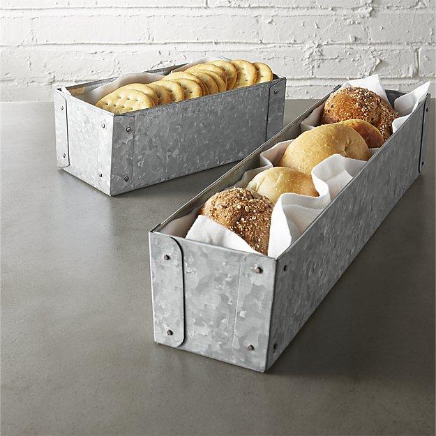 galvanized baskets