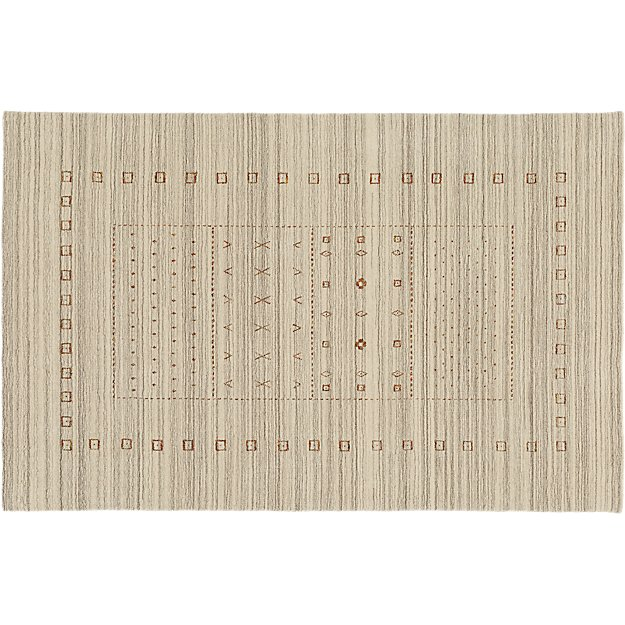 Game Time Handloomed Natural Rug 5'x8'