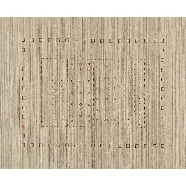 Game Time Handloomed Natural Rug 8'x10'