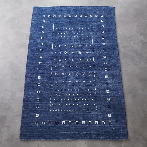 game time handloomed rug