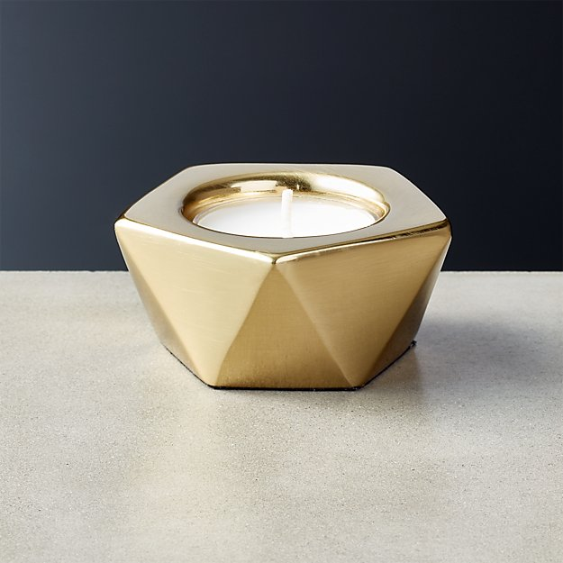 Gami Brass Tea Light Candle Holder