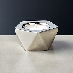 Gami Silver Tea Light Candle Holder