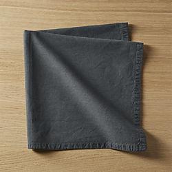 garment washed graphite napkin