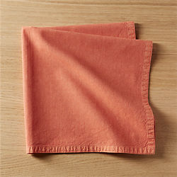 garment washed salmon napkin