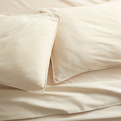 garment washed ivory organic cotton sheet sets