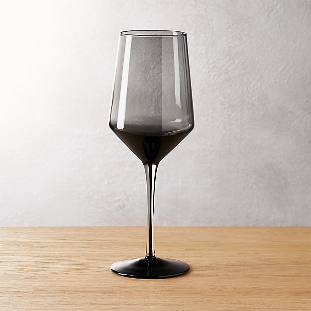 ghost smoke grey red wine glass